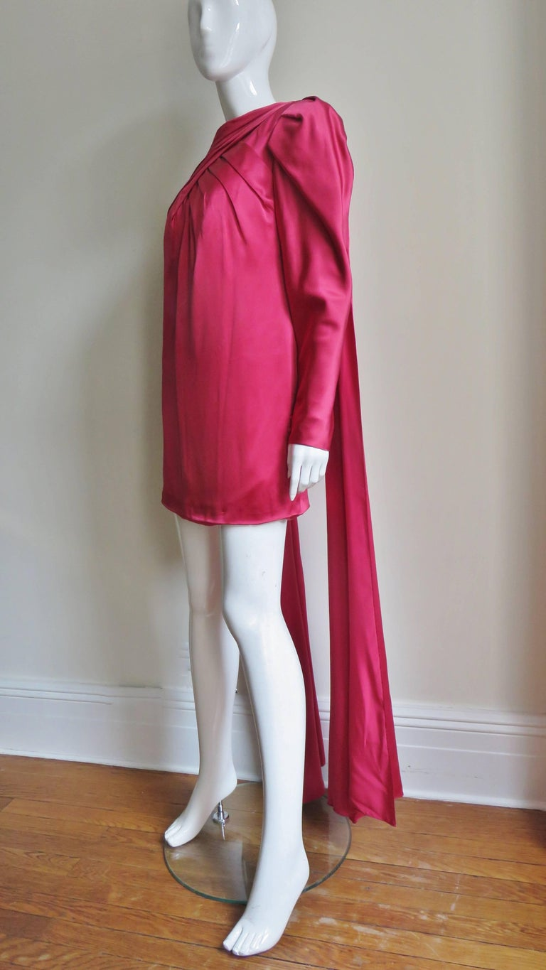 1980s Wallace Slove Mini Dress With Draping 7