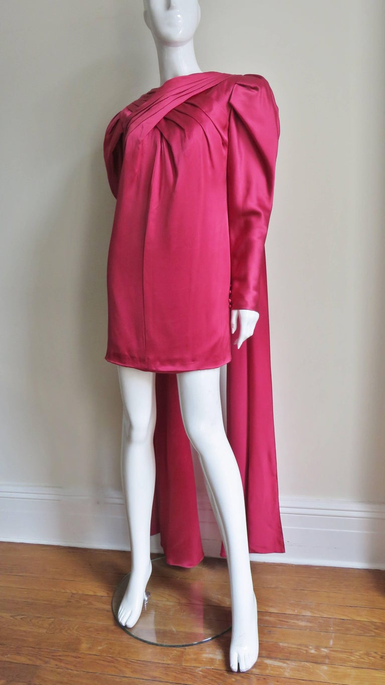1980s Wallace Slove Mini Dress With Draping 5
