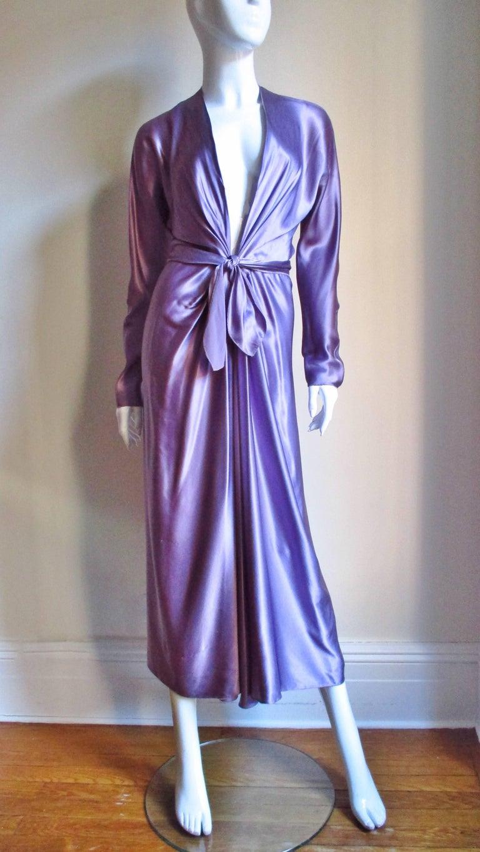 Women's Jackie Rogers Silk Plunge Dress & Wrap For Sale