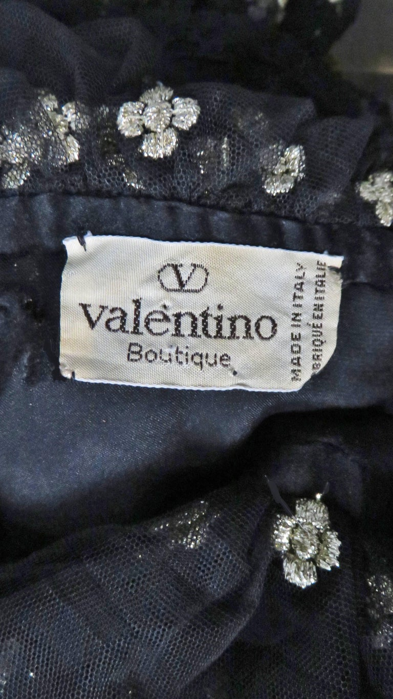 613c81db918ccb Valentino Boutique 1980 s Silk Ruffle Blouse For Sale at 1stdibs