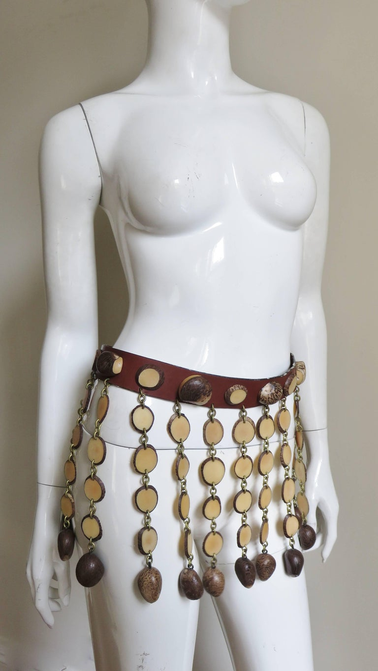 """1990s Moschino """"Nuts"""" Belt In New never worn Condition For Sale In New York, NY"""