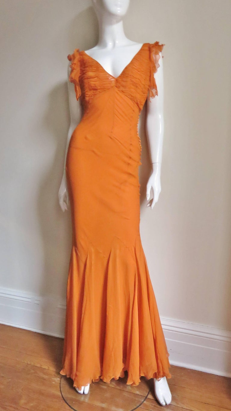 1990s Christian Dior Galliano Mermaid Gown  For Sale 1