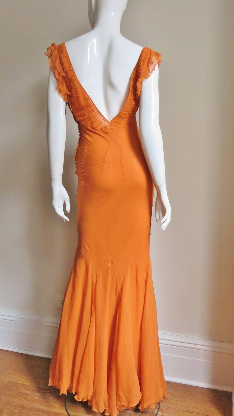 1990s Christian Dior Galliano Mermaid Gown  For Sale 4