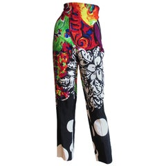 1990s Gianni Versace Couture Silk Faille Pants