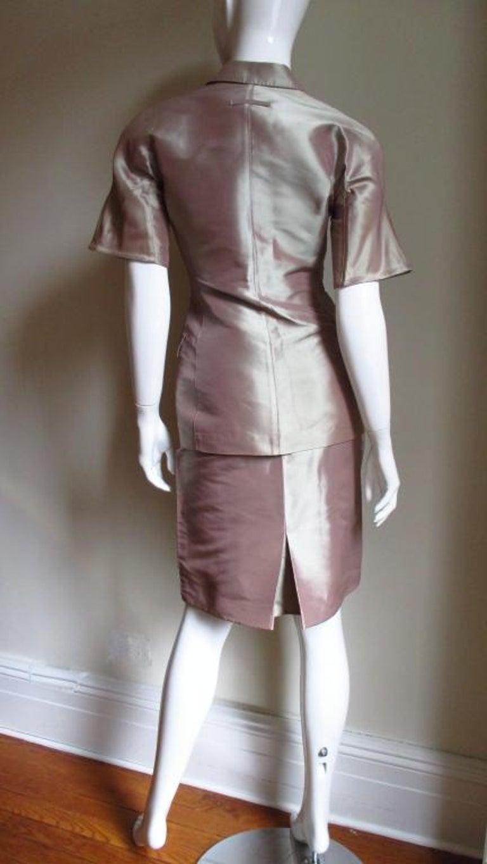 Jean Paul Gaultier Blush Silk Skirt Suit For Sale 3