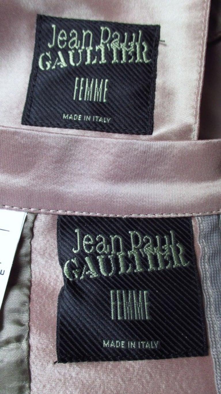 Jean Paul Gaultier Blush Silk Skirt Suit For Sale 4