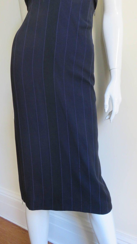 1990s Gianni Versace Hardware Plunge Halter Dress For Sale 2