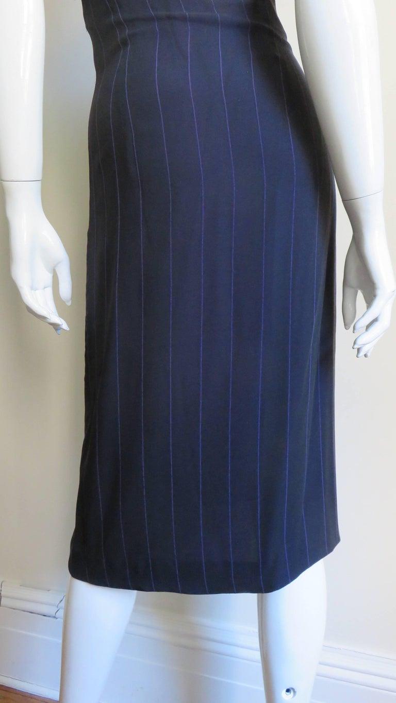 1990s Gianni Versace Hardware Plunge Halter Dress For Sale 8