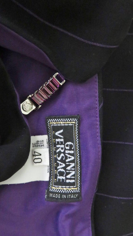 1990s Gianni Versace Hardware Plunge Halter Dress For Sale 10