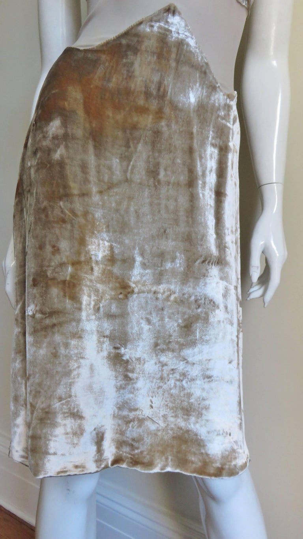 Women's 1990s Gianni Versace Silk Sheer Waist Plunge Halter Dress For Sale