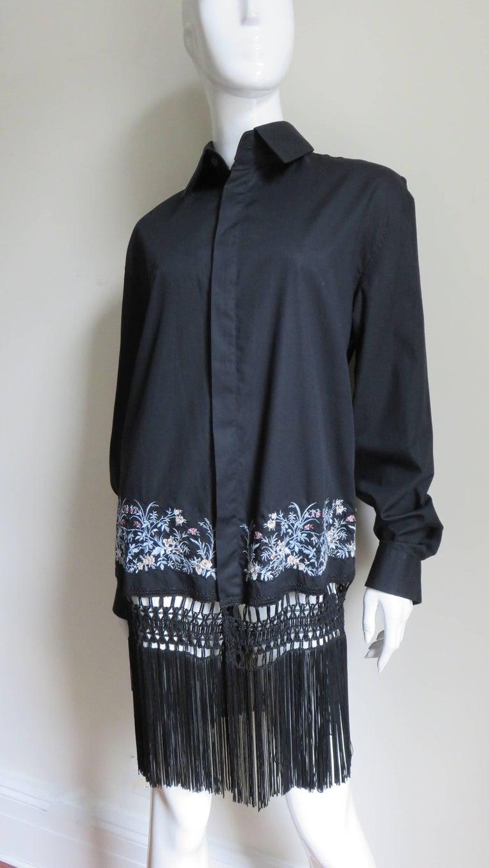 Alexander McQueen New Unisex Fringe Shirt S/S 1999 For Sale 1