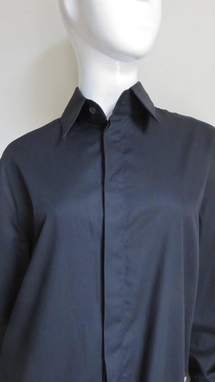 Black Alexander McQueen New Unisex Fringe Shirt S/S 1999 For Sale