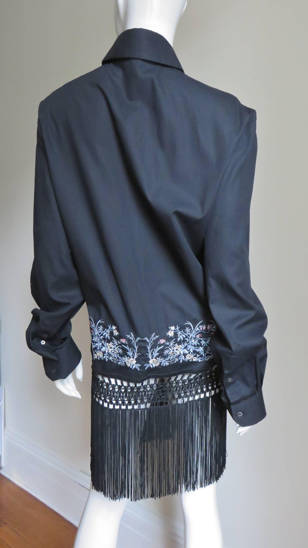 Alexander McQueen New Unisex Fringe Shirt S/S 1999 For Sale 4