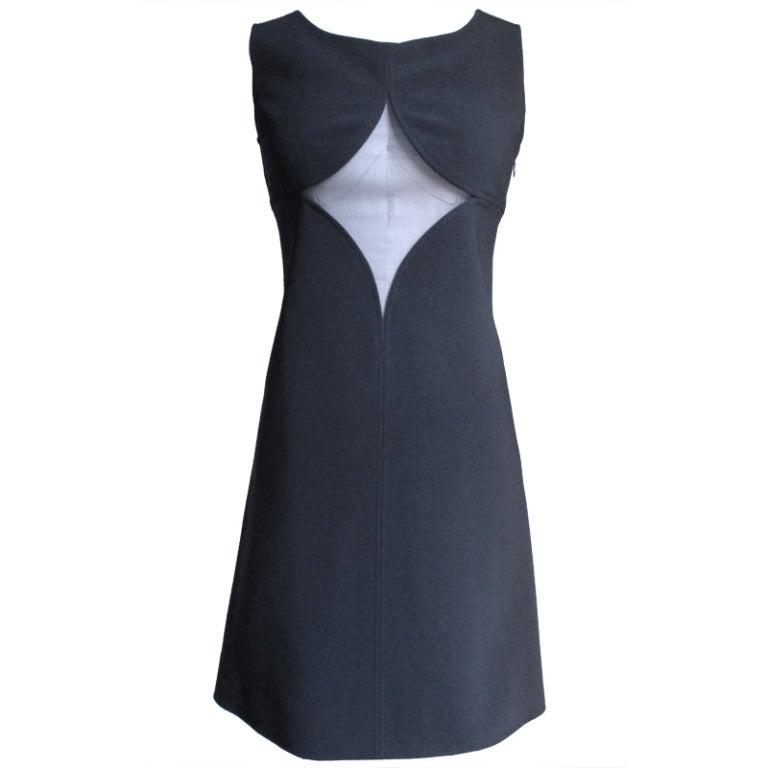 1960s Courreges Fabulous Dress with Cutouts For Sale
