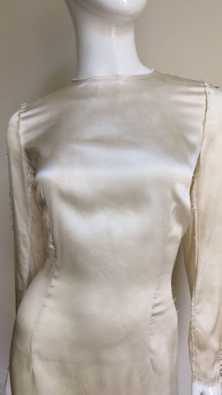 Pierre Balmain Safety Pin Sleeves Dress In Good Condition For Sale In New York, NY