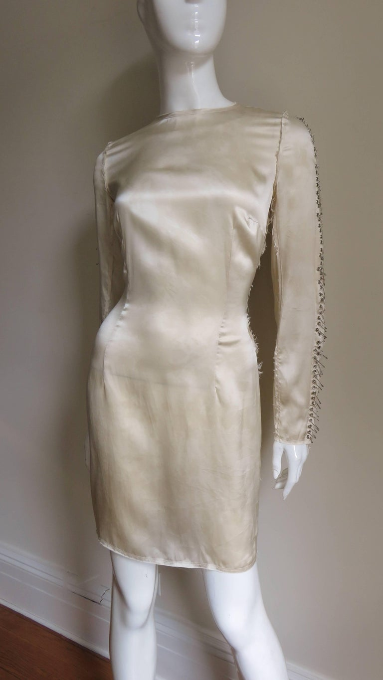 Pierre Balmain Safety Pin Sleeves Dress For Sale 6
