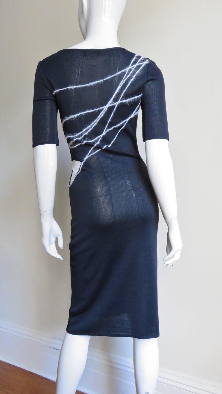1990s Gianni Versace Cutout Waist Bodycon Dress For Sale 3
