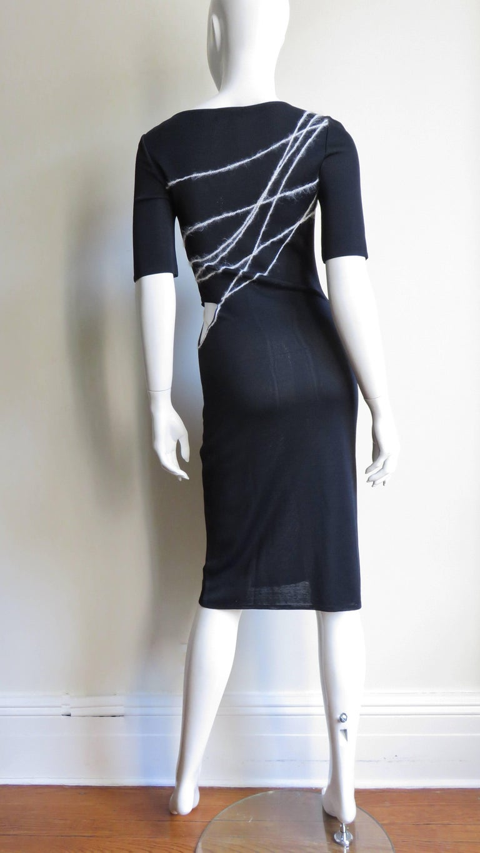 1990s Gianni Versace Cutout Waist Bodycon Dress For Sale 7