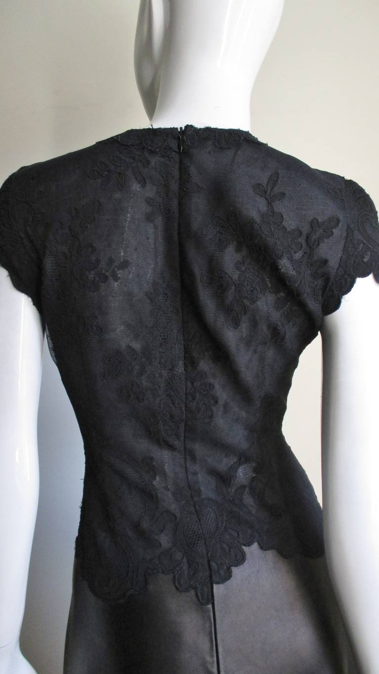 Gianni Versace Leather and Lace Dress For Sale 7