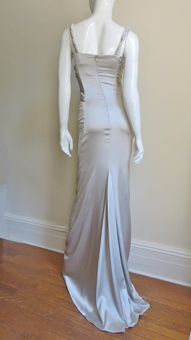 Dolce & Gabbana Silk Ruched Gown For Sale 7