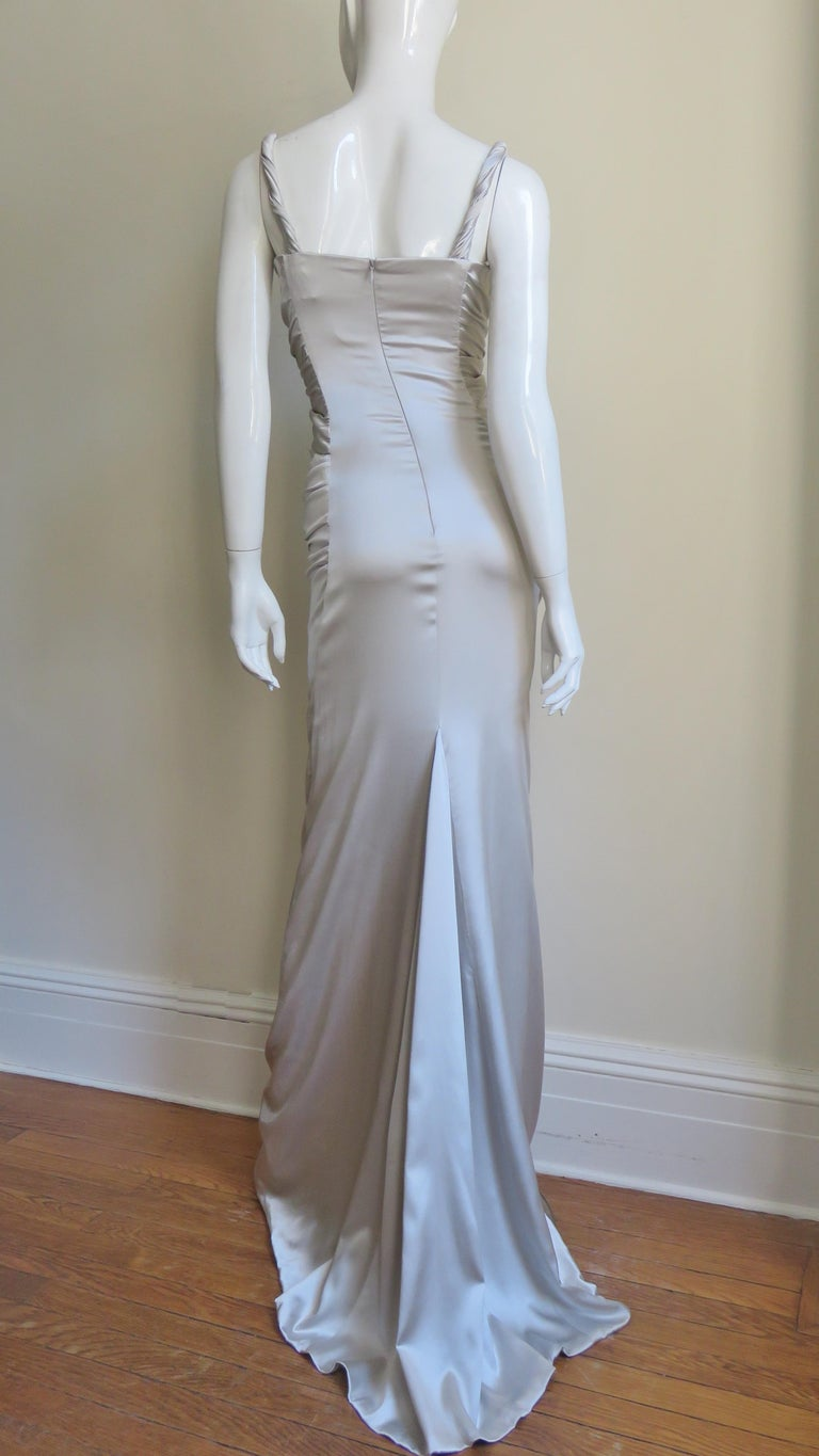Dolce & Gabbana Silk Ruched Gown For Sale 13