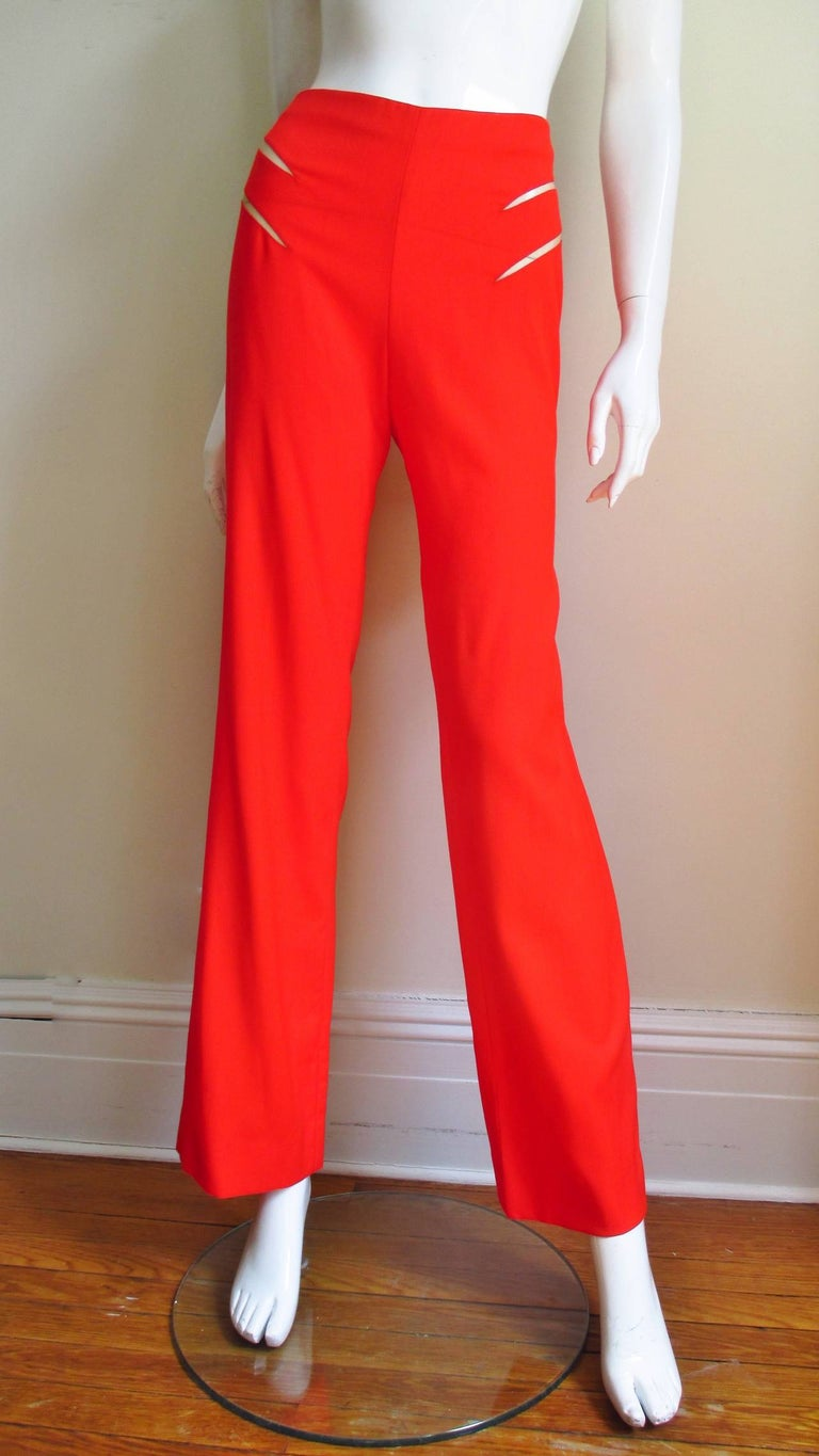 Women's Gianni Versace Couture New Suit with Cut outs 1990s For Sale