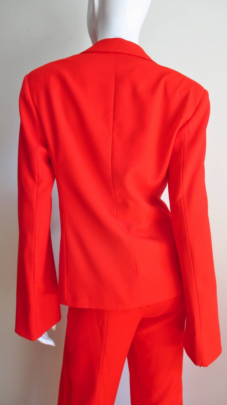 Gianni Versace Couture New Suit with Cut outs 1990s For Sale 3