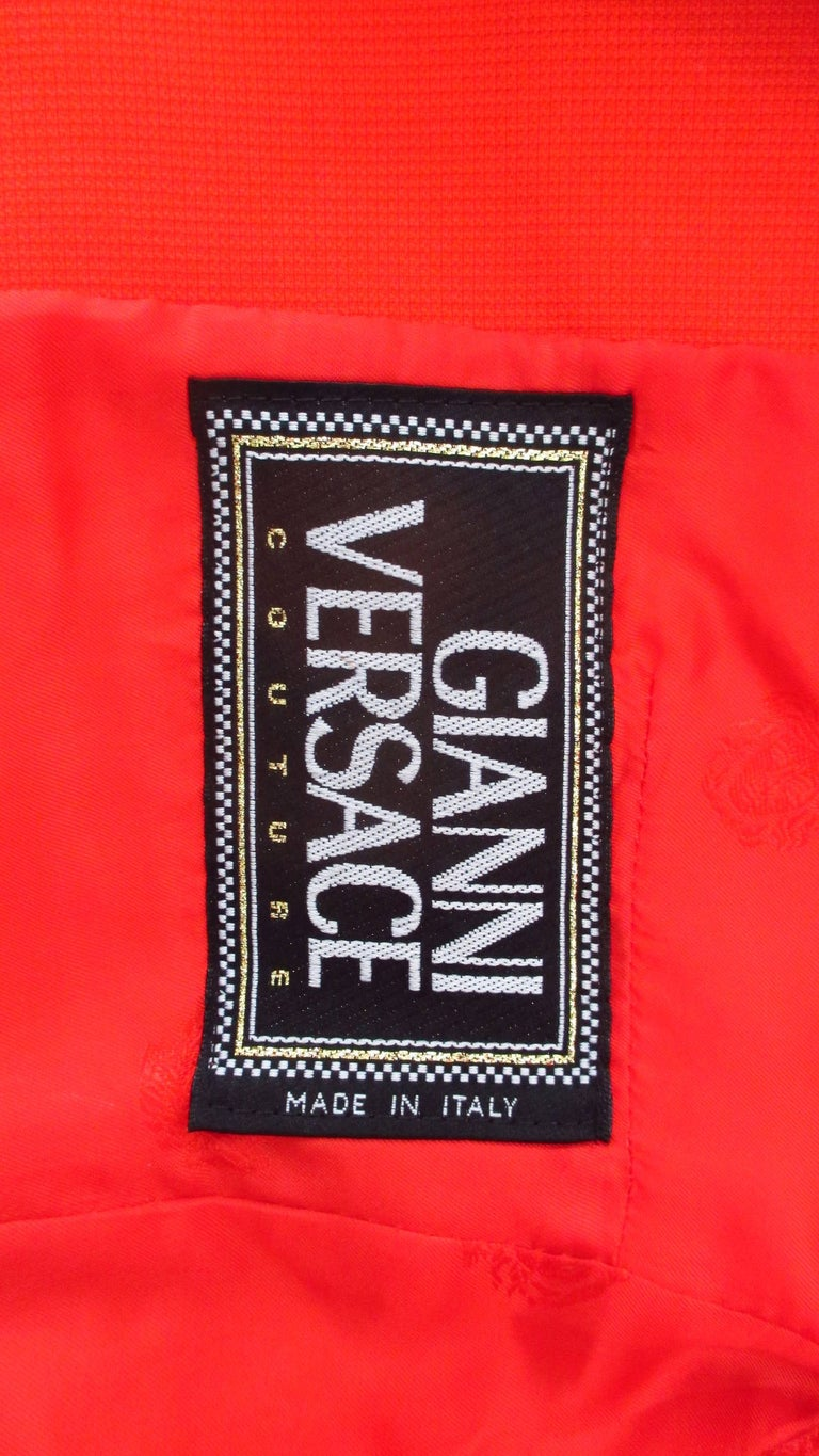 Gianni Versace Couture New Suit with Cut outs 1990s For Sale 5