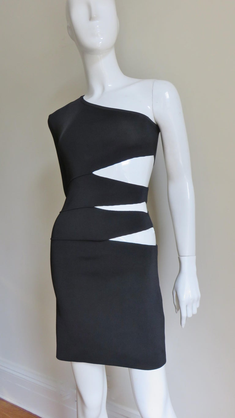 90cf5f26 Pierre Balmain One Sleeve Dress with Side Cutouts For Sale at 1stdibs