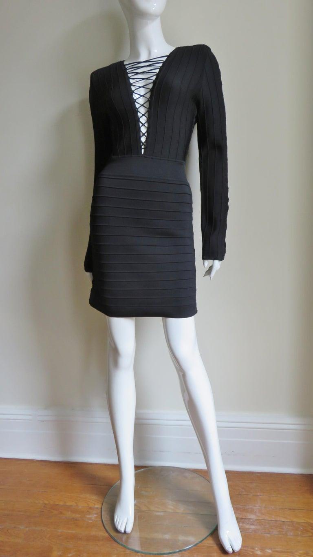 Pierre Balmain Lace Up Bandage Dress For Sale 4