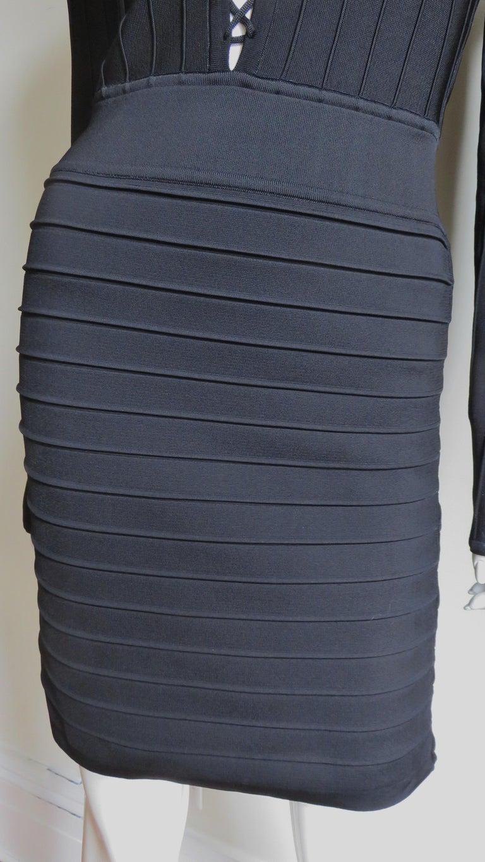 Pierre Balmain Lace Up Bandage Dress For Sale 1
