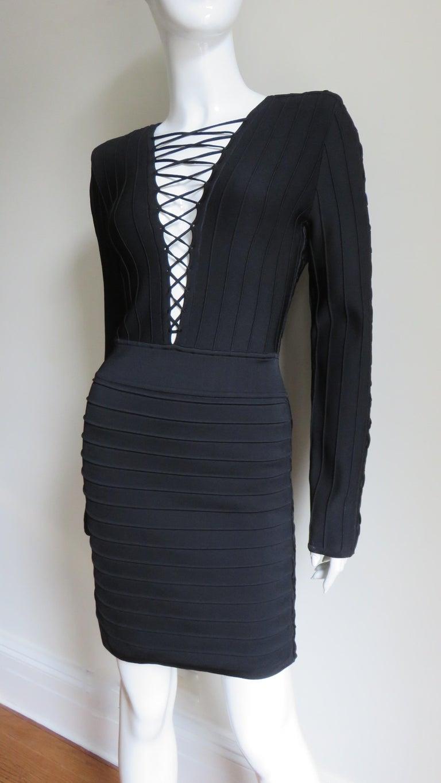 Pierre Balmain Lace Up Bandage Dress For Sale 3