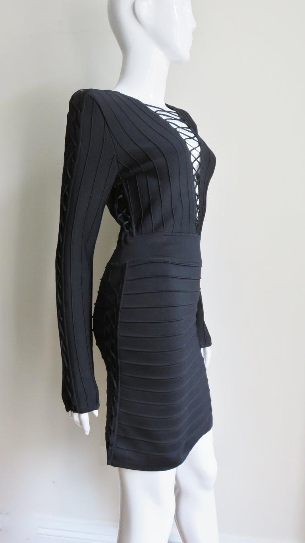 Pierre Balmain Lace Up Bandage Dress For Sale 2