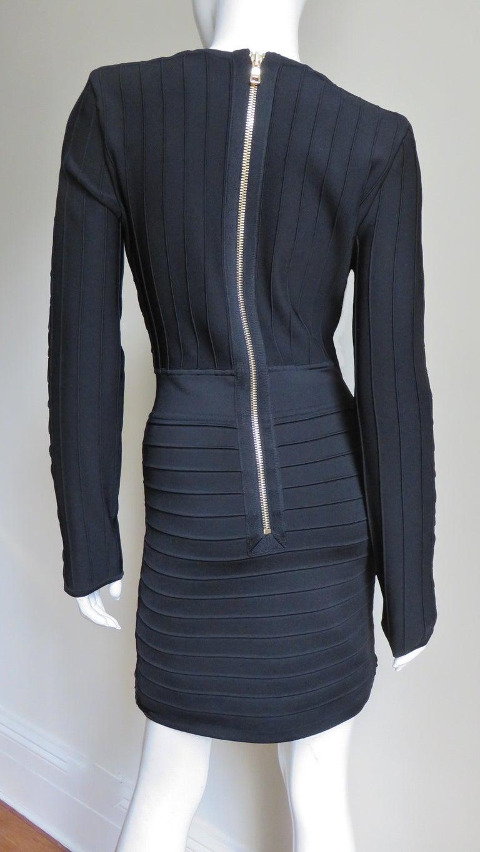 Pierre Balmain Lace Up Bandage Dress For Sale 5