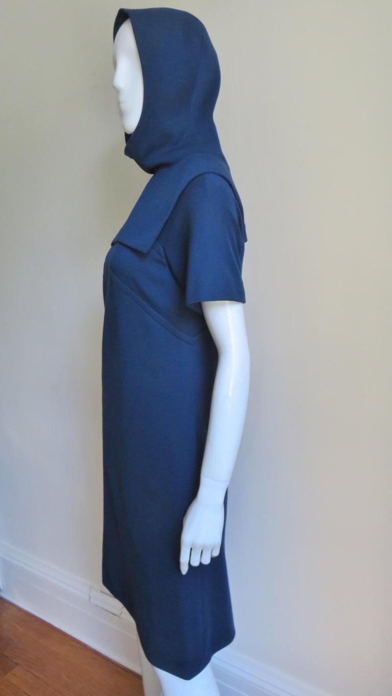 Pauline Trigere 1960s Dress and Hood For Sale 4