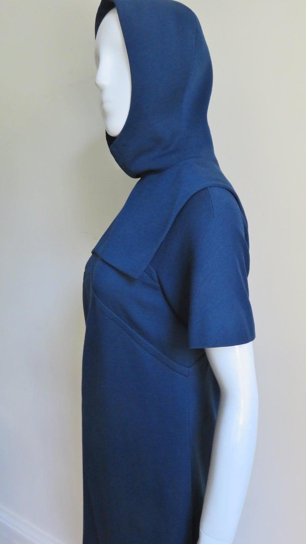 Pauline Trigere 1960s Dress and Hood For Sale 5