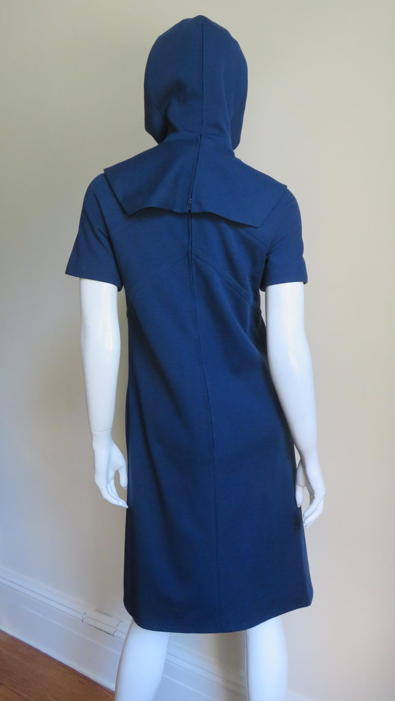 Pauline Trigere 1960s Dress and Hood For Sale 7