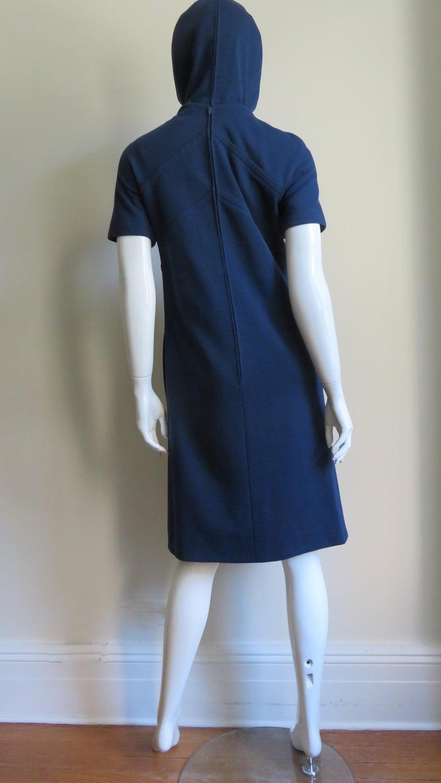 Pauline Trigere 1960s Dress and Hood For Sale 6
