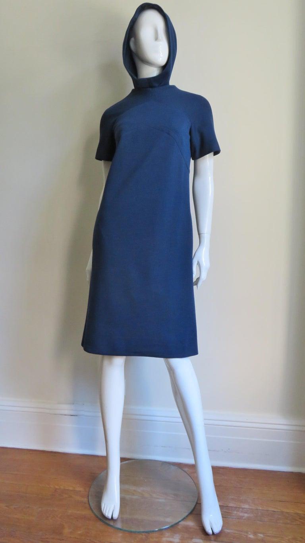 Pauline Trigere 1960s Dress and Hood For Sale 3