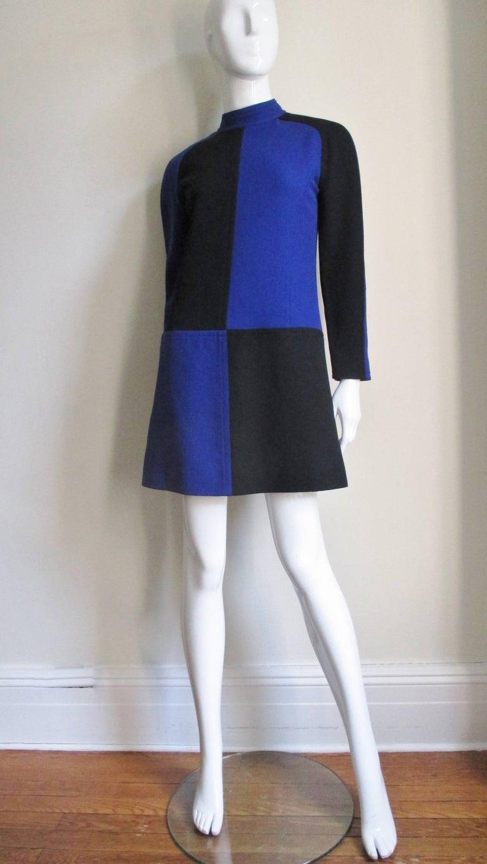 Women's 1970s Courreges Color Block Dress For Sale
