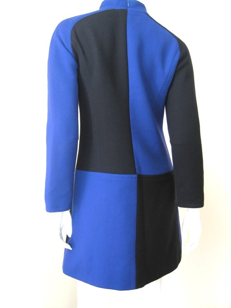 1970s Courreges Color Block Dress For Sale 1