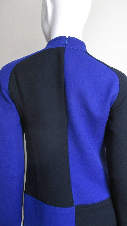 1970s Courreges Color Block Dress For Sale 2