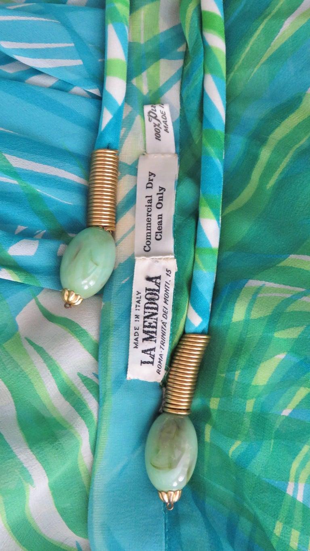 1970s La Mendola Maxi Dress and Silk Over Skirt For Sale 11
