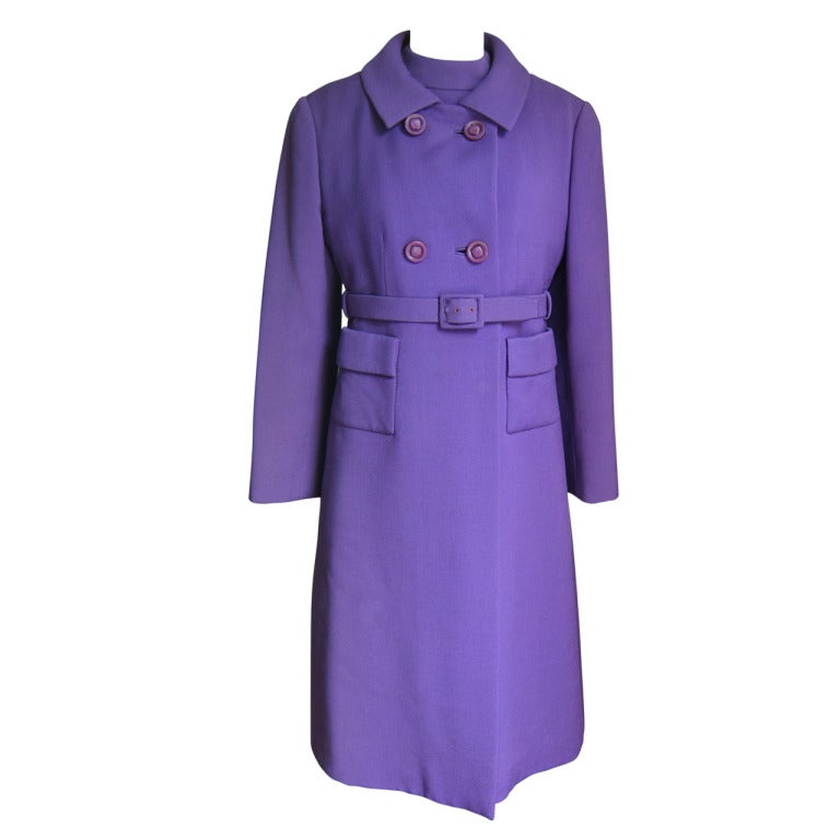 1960s Yves Saint Laurent for Christian Dior Coat and Dress