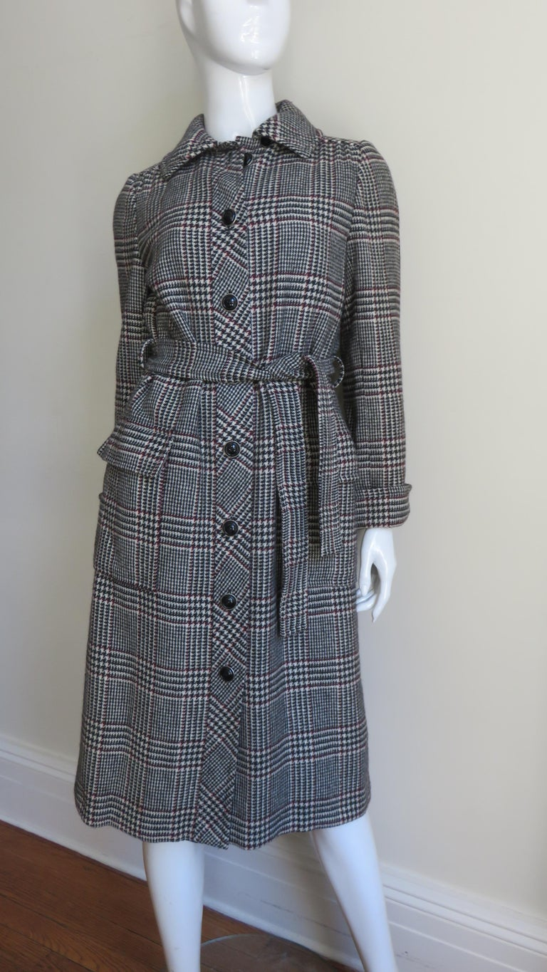 1970s Adele Simpson Wrap Coat and Matching Skirt For Sale 2