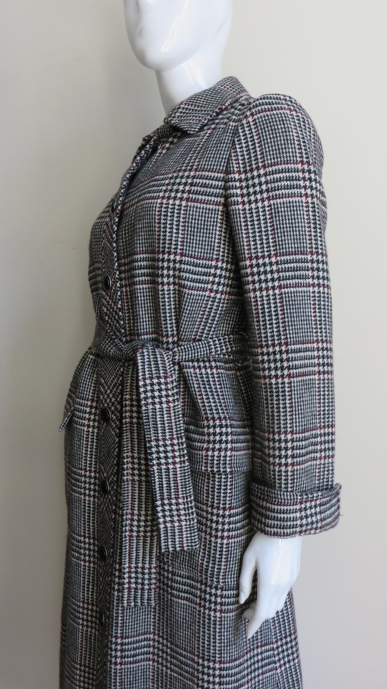 1970s Adele Simpson Wrap Coat and Matching Skirt For Sale 7