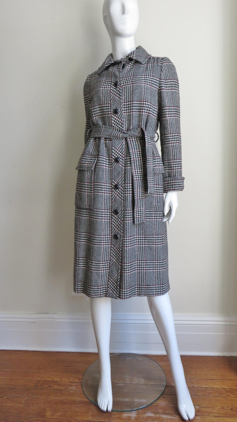1970s Adele Simpson Wrap Coat and Matching Skirt For Sale 5