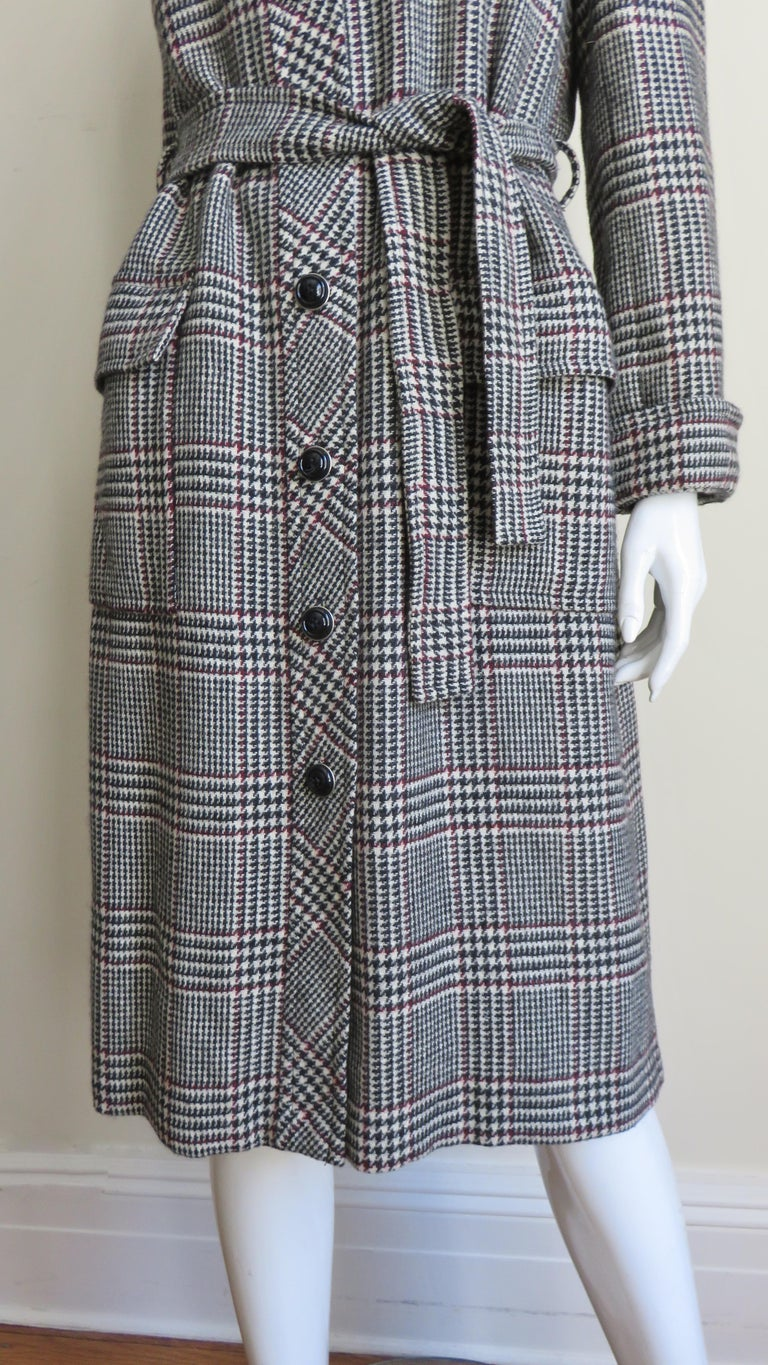 Women's 1970s Adele Simpson Wrap Coat and Matching Skirt For Sale