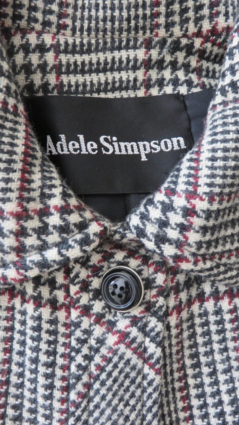 1970s Adele Simpson Wrap Coat and Matching Skirt For Sale 13