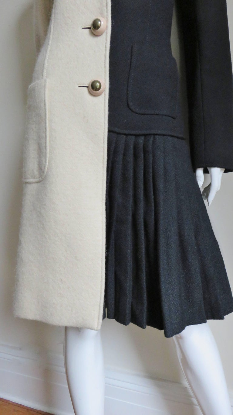 Moschino Color Block Coat In Good Condition For Sale In Water Mill, NY